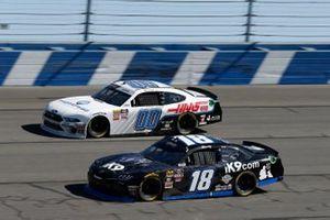 Kyle Busch, Joe Gibbs Racing, Toyota Supra iK9, Cole Custer, Stewart-Haas Racing, Ford Mustang Thompson Pipe/Haas CNC