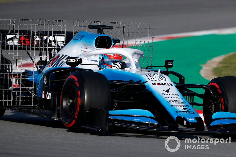 George Russell, Williams FW42, con sensori aerodinamici