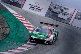 #10 Audi Sport Team WRT Audi R8 LMS GT3 Evo: Dries Vanthoor, Frédéric Vervisch, Christopher Haase