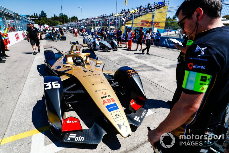Andre Lotterer, DS TECHEETAH, DS E-Tense FE19, on the grid