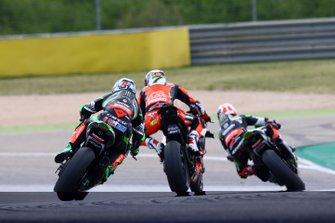 Leon Haslam, Kawasaki Racing, Chaz Davies, Aruba.it Racing-Ducati Team, Jonathan Rea, Kawasaki Racing