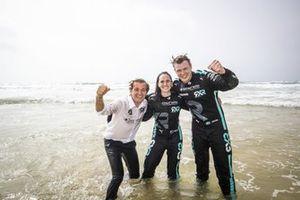 Nico Rosberg, fondatore e CEO, Rosberg X Racing e Molly Taylor, Johan Kristoffersson in acqua