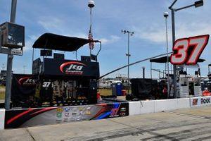 Ryan Preece, JTG Daugherty Racing, Chevrolet Camaro Velveeta pit stall