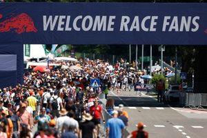 Fans pour into the circuit