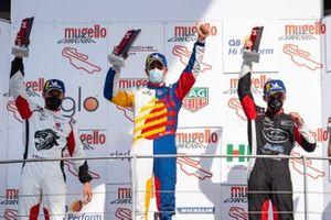 Podio Gara 1: Gianmarco Quaresmini, Tsunami RT, Alberto Cerqui Team Q8 Hi Perform e Alessandro Giardelli. Dinamic Motorsport