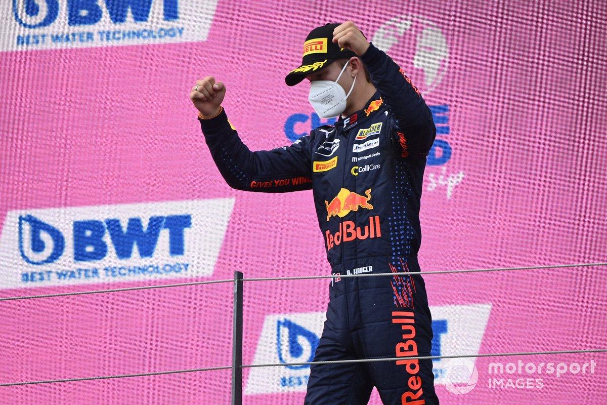 Podio: tercer lugar Dennis Hauger, Prema Racing