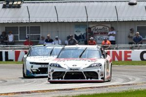 Harrison Burton, Joe Gibbs Racing, Toyota Supra DEX Imaging, Justin Haley, Kaulig Racing, Chevrolet Camaro LeafFilter Gutter Protection