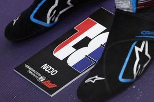 The boots of Esteban Ocon, Alpine F1
