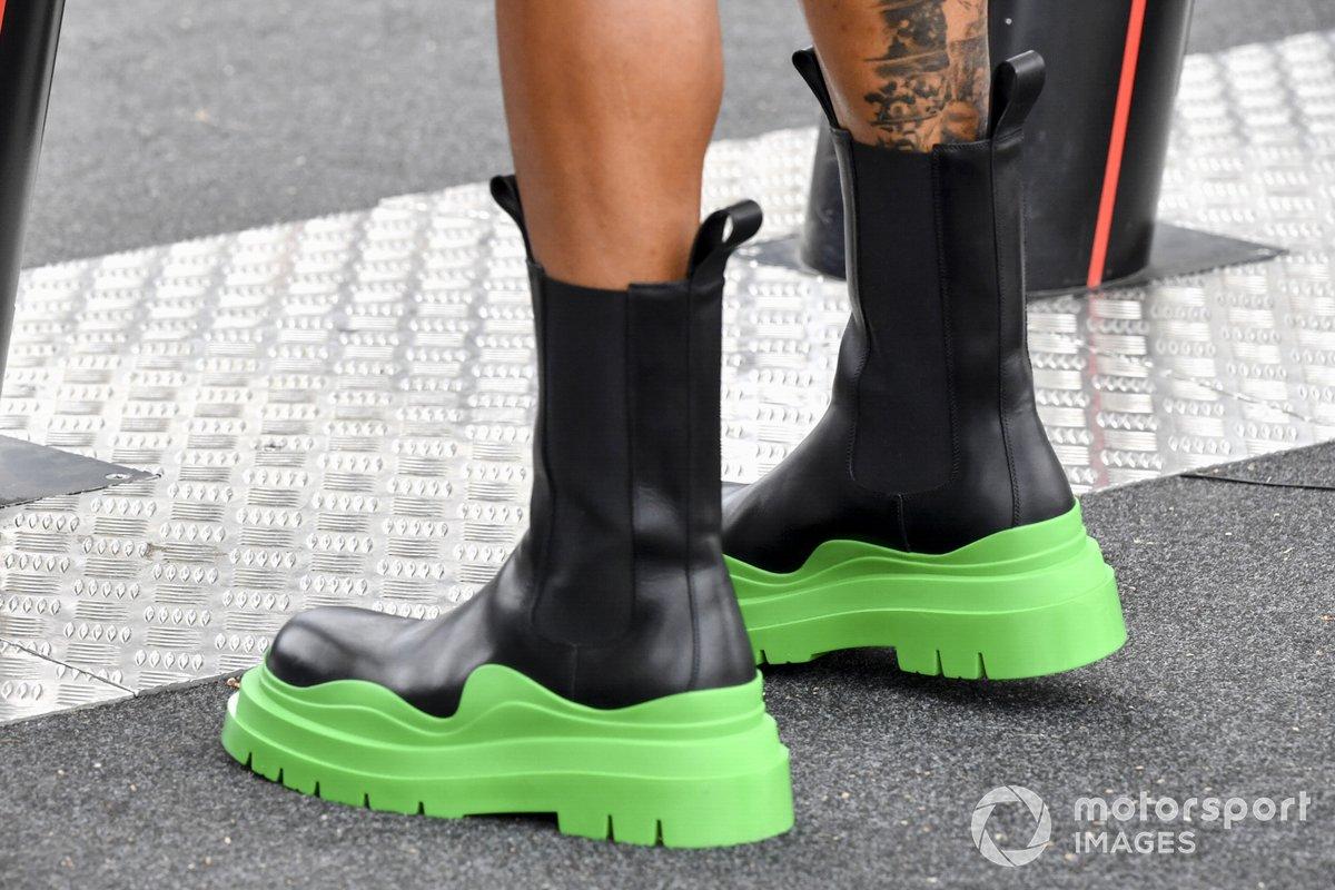 Las botas de Lewis Hamilton, Mercedes
