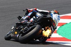 Michael van der Mark, BMW Motorrad WorldSBK Team, Flames from exhaust
