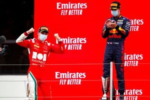 Arthur Leclerc, Prema Racing, 1st position, and Dennis Hauger, Prema Racing, 2nd position, on the podium