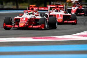 Arthur Leclerc, Prema Racing, leads Dennis Hauger, Prema Racing