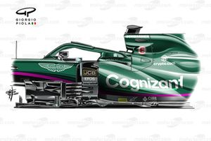 Aston Martin Racing AMR21 floor Vettel Portuguese GP
