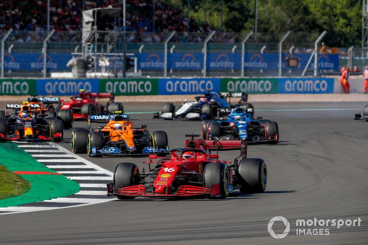 Charles Leclerc, Ferrari SF21, Lando Norris, McLaren MCL35M, Sergio Pérez, Red Bull Racing RB16B