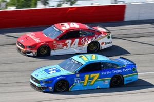 Chris Buescher, Roush Fenway Racing, Ford Mustang Fifth Third Bank, Michael McDowell, Front Row Motorsports, Ford Mustang Fr8 Auctions