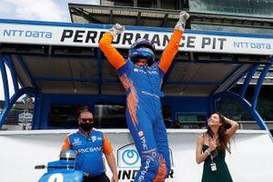 Indy-500-Polesitter 2021: Scott Dixon, Chip Ganassi Racing Honda, mit Ehefrau Emma