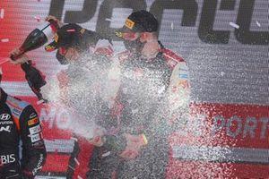 Podium: Elfyn Evans, Scott Martin, Toyota Gazoo Racing WRT Toyota Yaris WRC