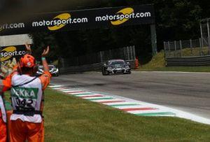 Race winner Kelvin van der Linde, Abt Sportsline Audi R8 LMS GT3