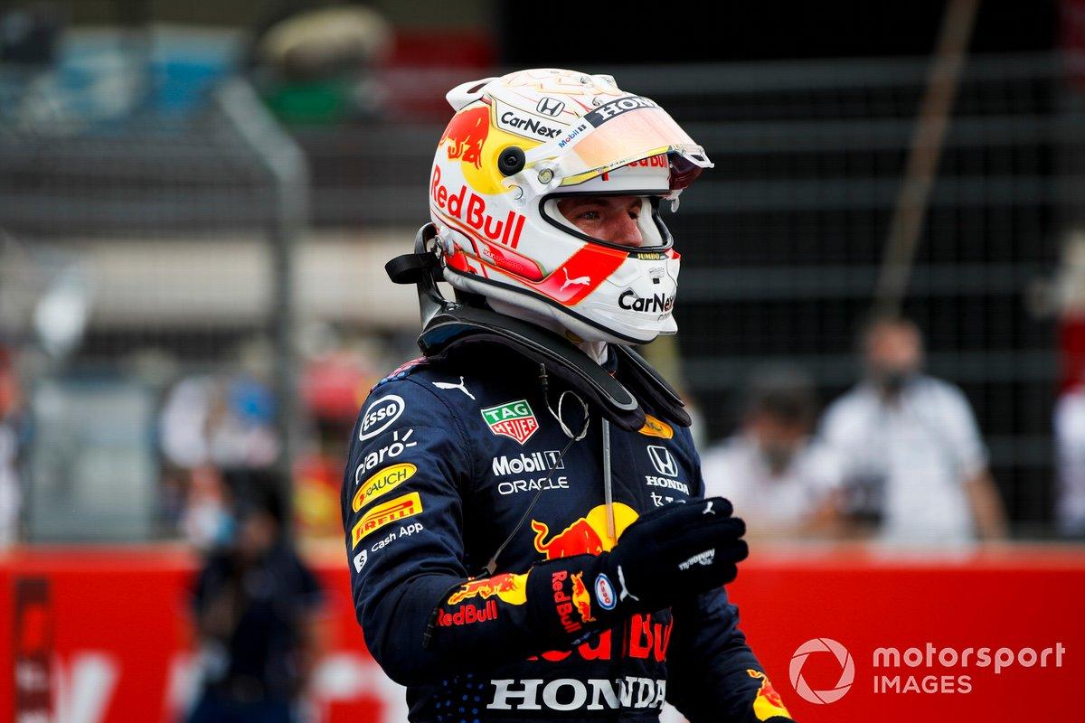Ganador Max Verstappen, Red Bull Racing en Parc Ferme