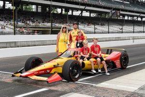 Ryan Hunter-Reay, Andretti Autosport Honda, Beccy, family, Ryden, Rocsen, Rhodes