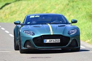 Otmar Szafnauer, Team Principal and CEO, Aston Martin F1, arrives at the circuit
