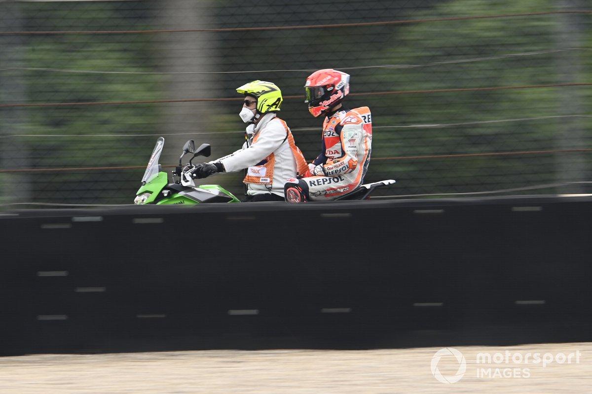 Marc Márquez, Repsol Honda Team tras su caída