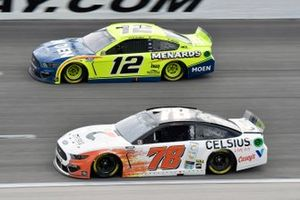B.J. McLeod, Live Fast Motorsports, Ford Mustang and Ryan Blaney, Team Penske, Ford Mustang Menards/Moen
