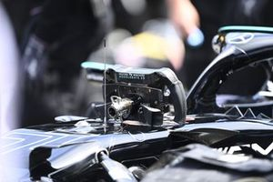 The steering wheel from the Mercedes W12