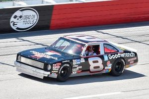 Dale Earnhardt Jr driving his fathers Nova