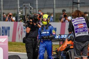Lando Norris, McLaren, 3rd position, in Parc Ferme