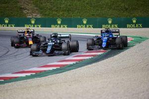 Fernando Alonso, Alpine A521,Lance Stroll, Aston Martin AMR21,Max Verstappen, Red Bull Racing RB16B