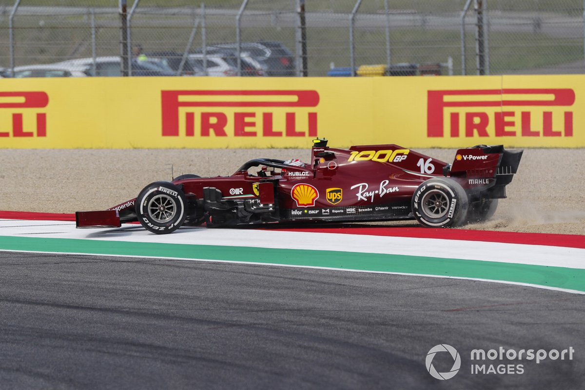 Charles Leclerc, Ferrari SF1000, recovers from the gravel