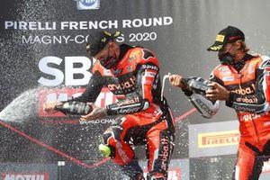 Podium: race winner Scott Redding, Aruba.it Racing Ducati, third place Chaz Davies, ARUBA.IT Racing Ducati