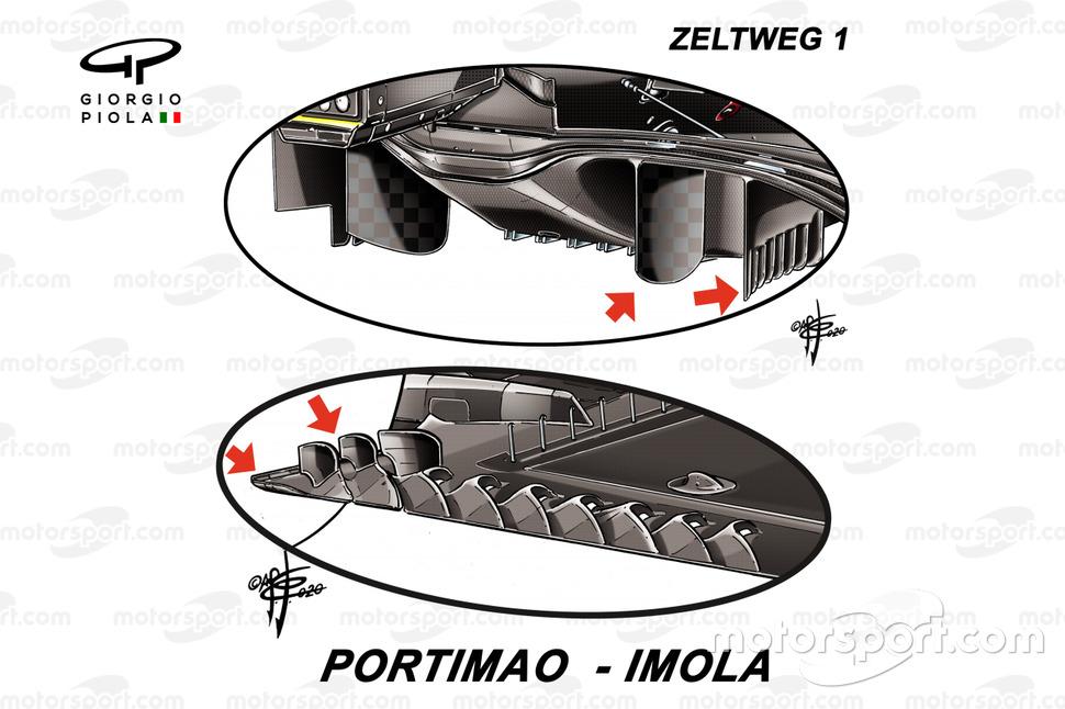 Ferrari SF1000 diffuser