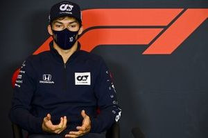 Pierre Gasly, AlphaTauri, in a Press Conference