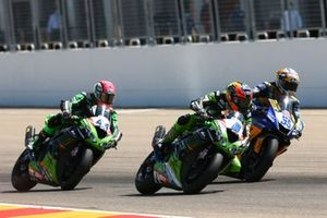 Lucas Mahias, Kawasaki Puccetti Racing, Philipp Oettl, Kawasaki Puccetti Racing, Andrea Locatelli, BARDAHL Evan Bros WorldSSP Team