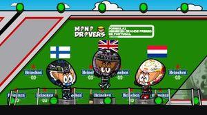 El podio del GP de Portugal 2020 de F1 según los MiniDrivers