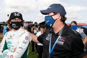 Winner Colton Herta, Andretti Harding Steinbrenner Autosport Honda, with dad Bryan
