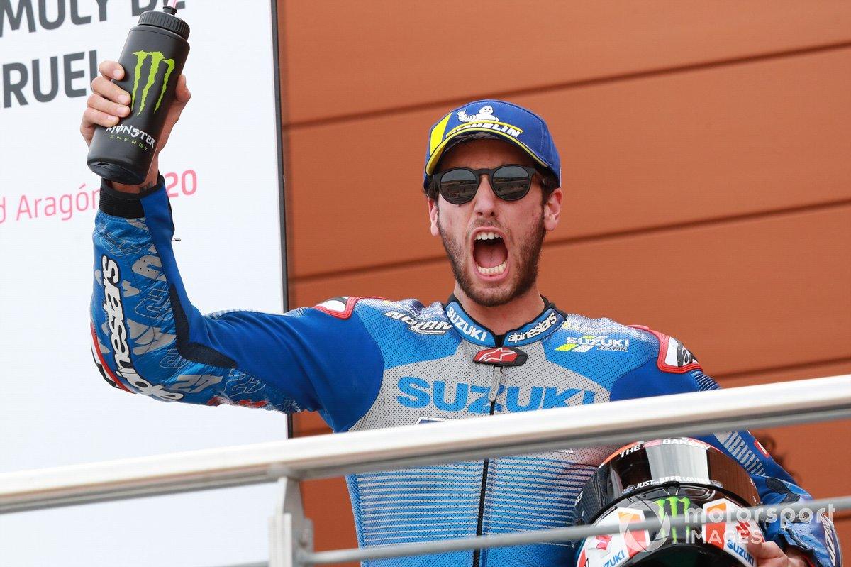 Podio: segundo lugar Alex Rins, Team Suzuki MotoGP