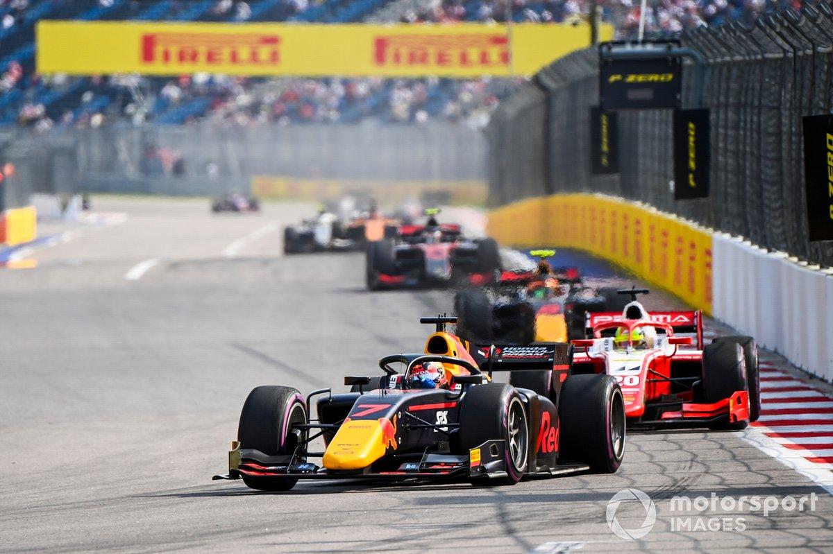 Yuki Tsunoda, Carlin y Mick Schumacher, Prema Racing