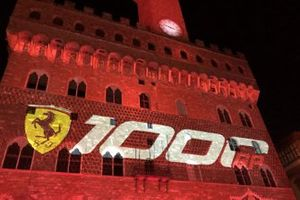 Ferrari 1000th GP celebration atmosphere