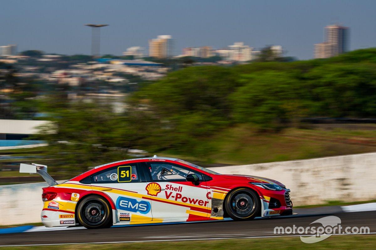 Átila Abreu no treino classificatório para a etapa de Londrina da Stock Car