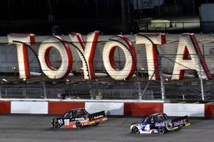 Christian Eckes, Kyle Busch Motorsports, Toyota Tundra Safelite AutoGlass and Raphael Lessard, Kyle Busch Motorsports, Toyota Tundra Mobil 1