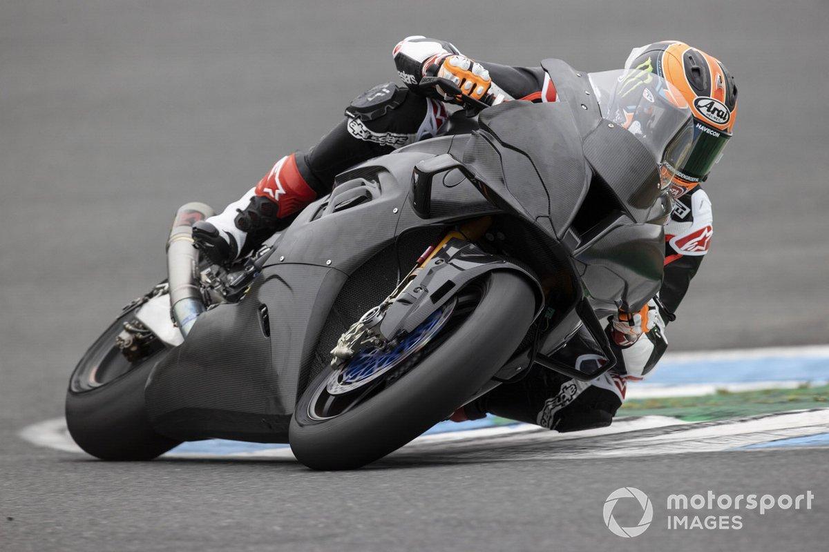 Michael van der Mark, BMW Motorrad WorldSBK Team, test de BMWS1000RR met nieuwe fairing