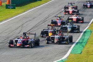 Lirim Zendeli, Trident, Enzo Fittipaldi, HWA Racelab en Liam Lawson, Hitech Grand Prix