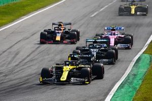 Daniel Ricciardo, Renault F1 Team R.S.20 Valtteri Bottas, Mercedes F1 W11 and Lance Stroll, Racing Point RP20