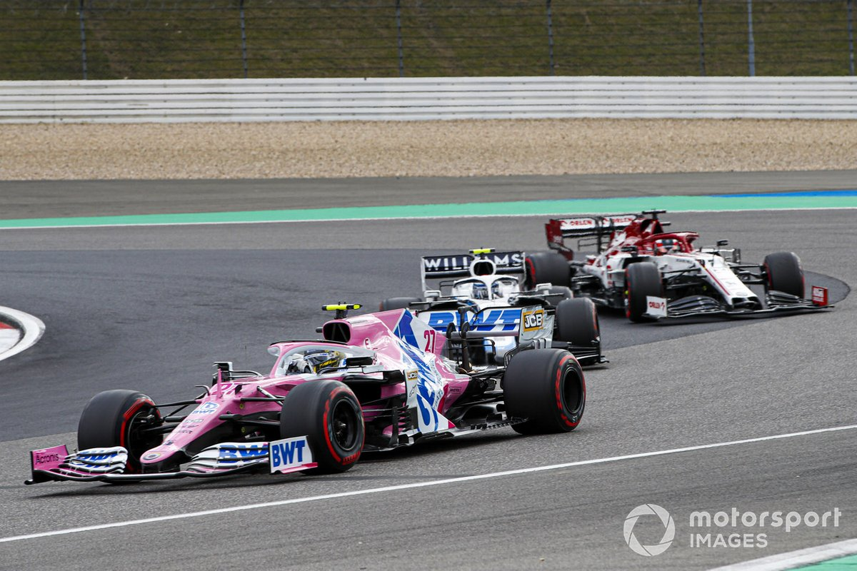 Nico Hulkenberg, Racing Point RP20, Nicholas Latifi, Williams FW43, Kimi Raikkonen, Alfa Romeo Racing C39