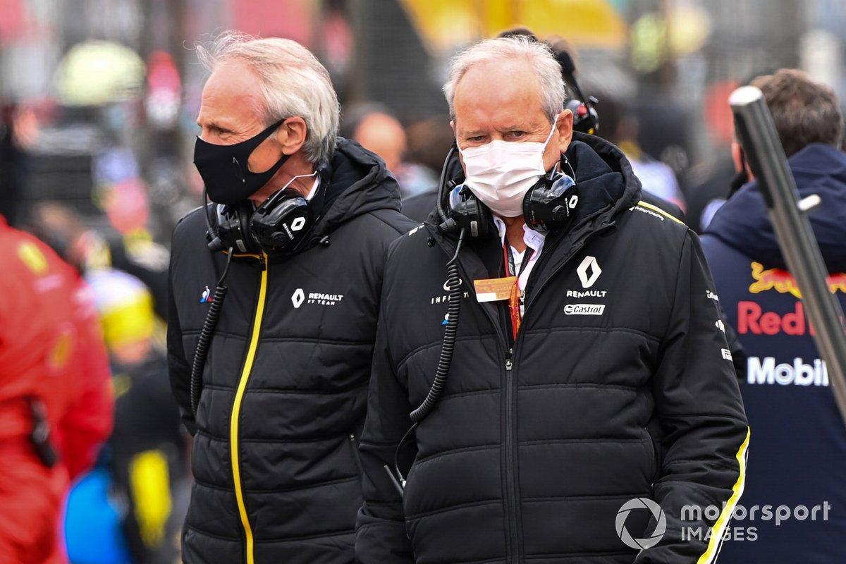 Jean-Dominique Senard, Renault (izquierda), en la parrilla