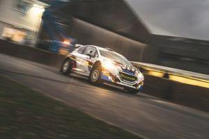 K Furber, A Medicott, Peugeot 208 T16 rally car in action
