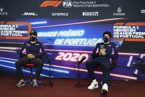 Sergio Perez, Racing Point, e Lance Stroll, Racing Point, in conferenza stampa